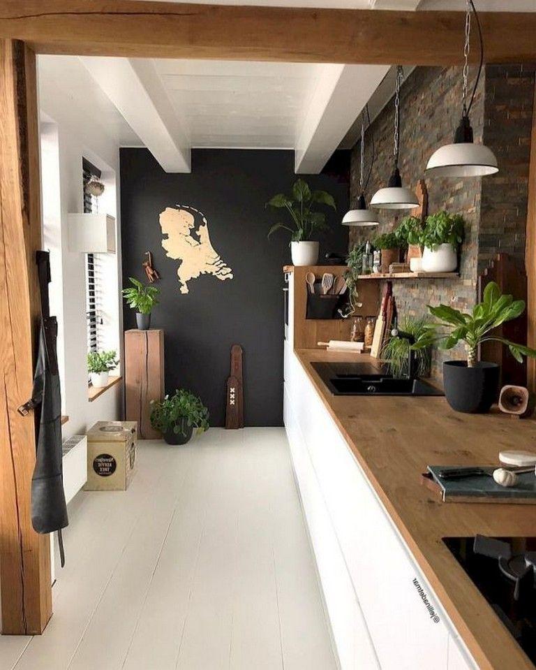 70 Good Staylish Black White Wood Kitchen Ideas White Wood