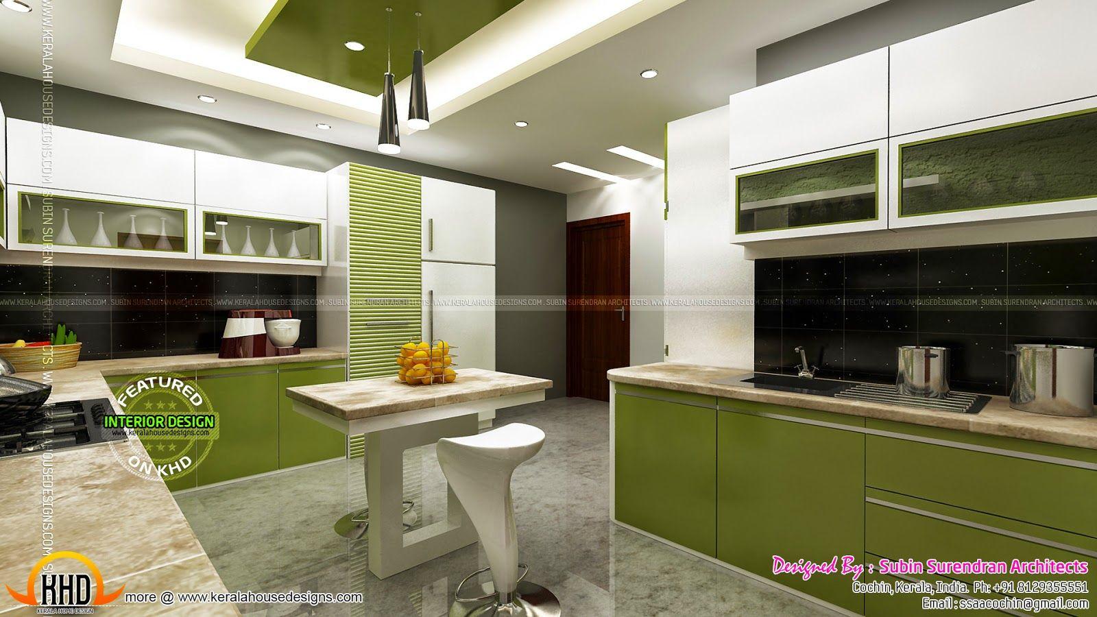 Luxury interior designs kerala home design floor plans kitchen contact house also rh in pinterest