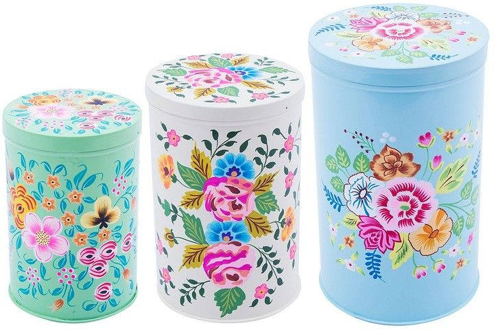 Karma living hand painted nesting gift boxes set of 3