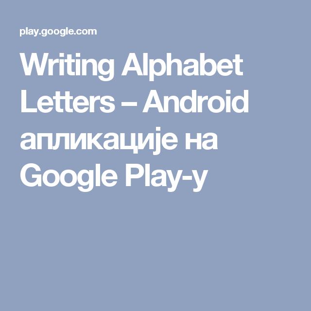 Writing Alphabet Letters – Android апликације на Google Play-у