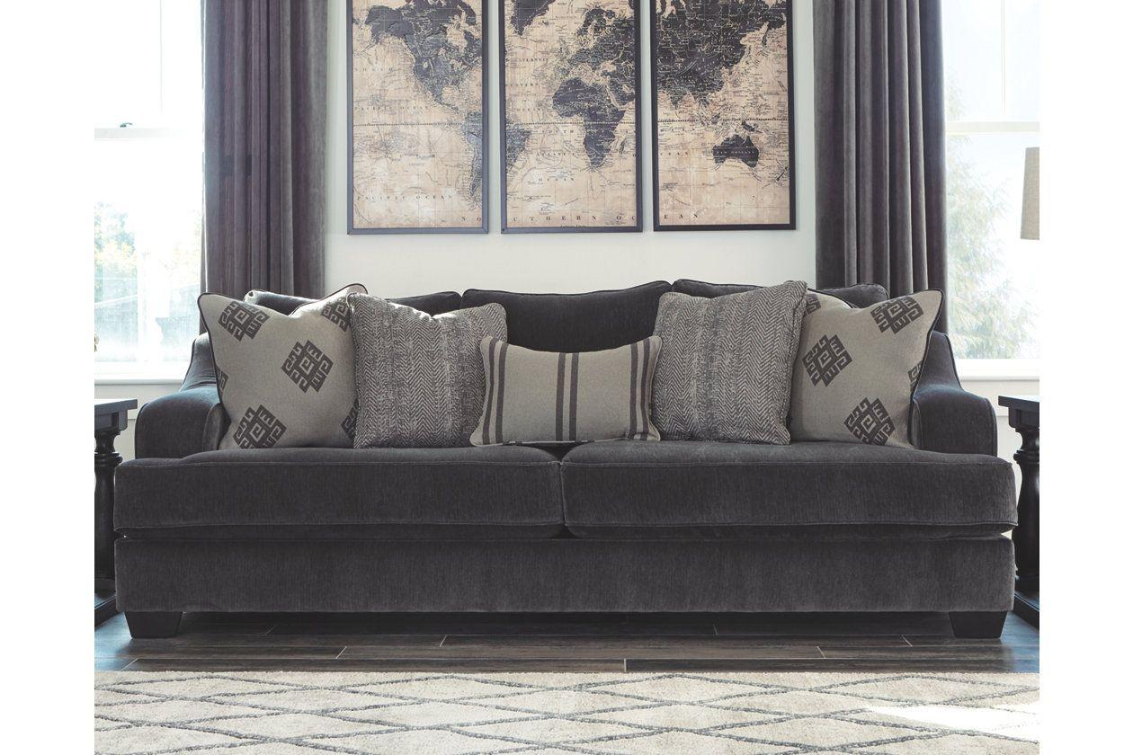 Corvara Sofa Ashley Furniture Homestore Ashley Furniture Sofas Grey Sofa Living Room Accent Sofa Pillows