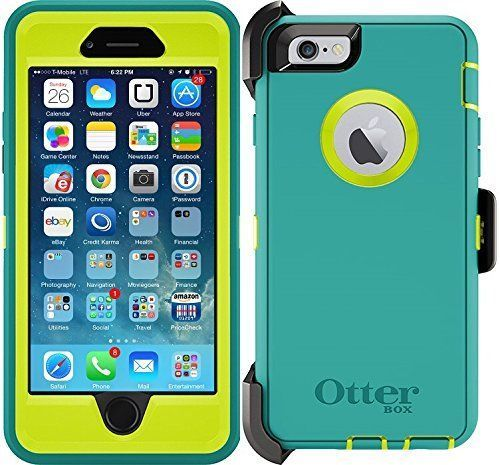 reputable site 68ecf 48d11 Defender iPhone 6 & iPhone 6s Case Color Teal (Belt Clip fits ...