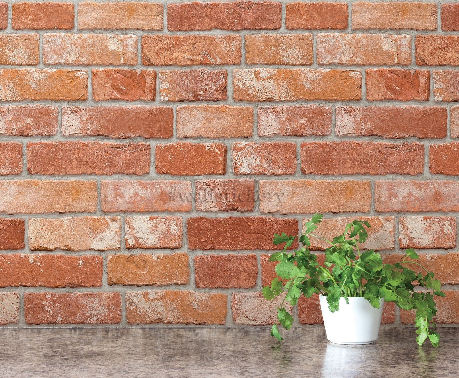 Wallstickery brick pattern contact paper prepasted for Wallpaper for interior walls