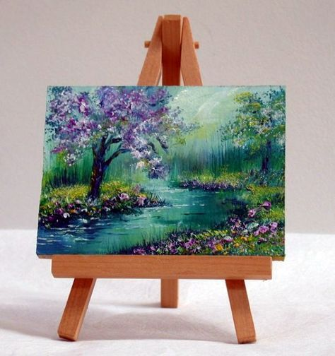 45 Artistic Miniature Painting Ideas Canvas Painting Mini
