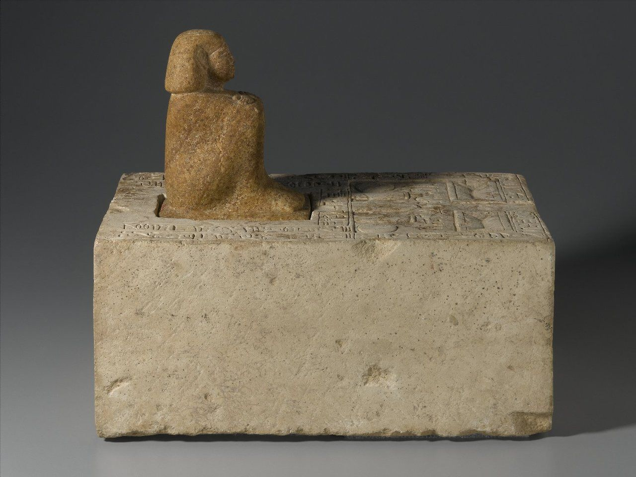 "theancientwayoflife: ""~ Statue of Ipepy. Place of origin: Faiyum Date: ca. 1870-1750 B.C. Period: Middle Kingdom-Second Intermediate Period, 12th-13th Dynasty Medium: Quartzite, limestone """