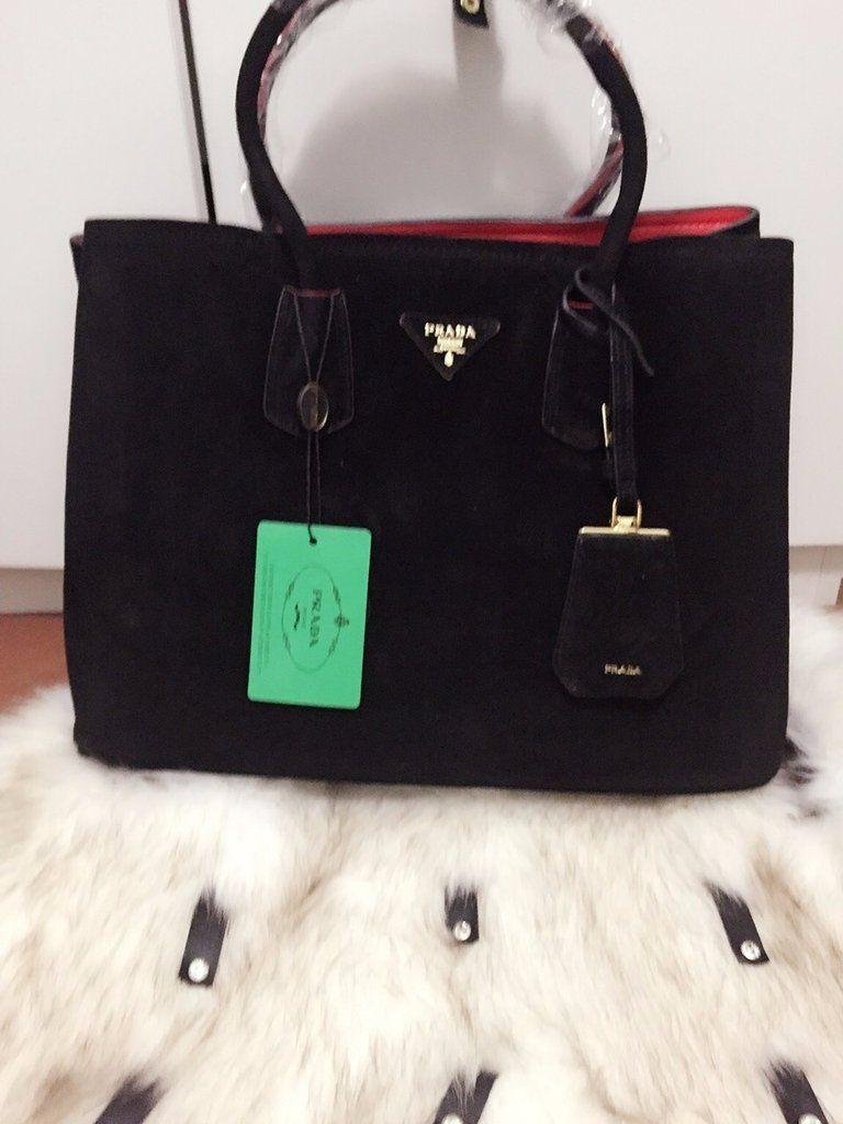 9efe931c7 Lançamento Bolsa de Grife Importada Prada Double Bag Preta - Linha TOP  PREMIUM…