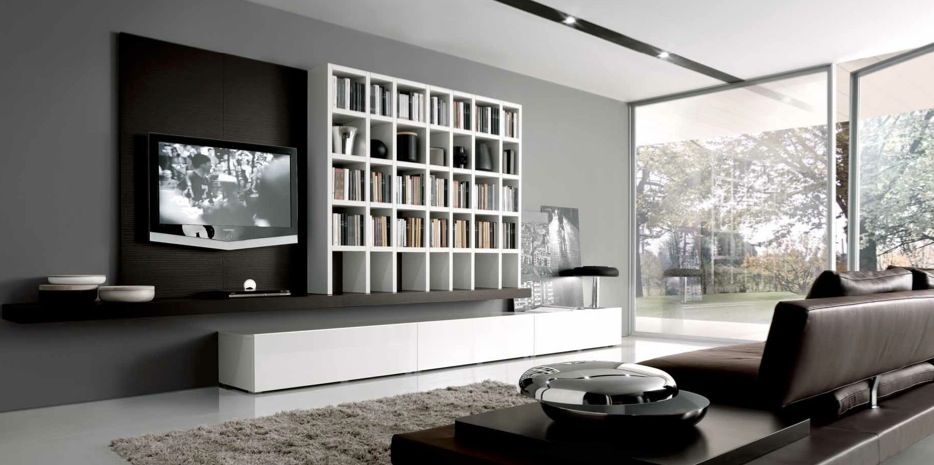 Grey And Brown Living Room built ins furniture for contemporar living room ideamisuraemme