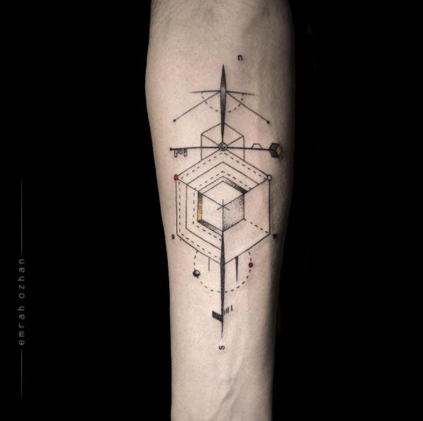 009060e3c1d34 40+ Geometric Tattoo Designs For Men And Women | — Tattoos ...
