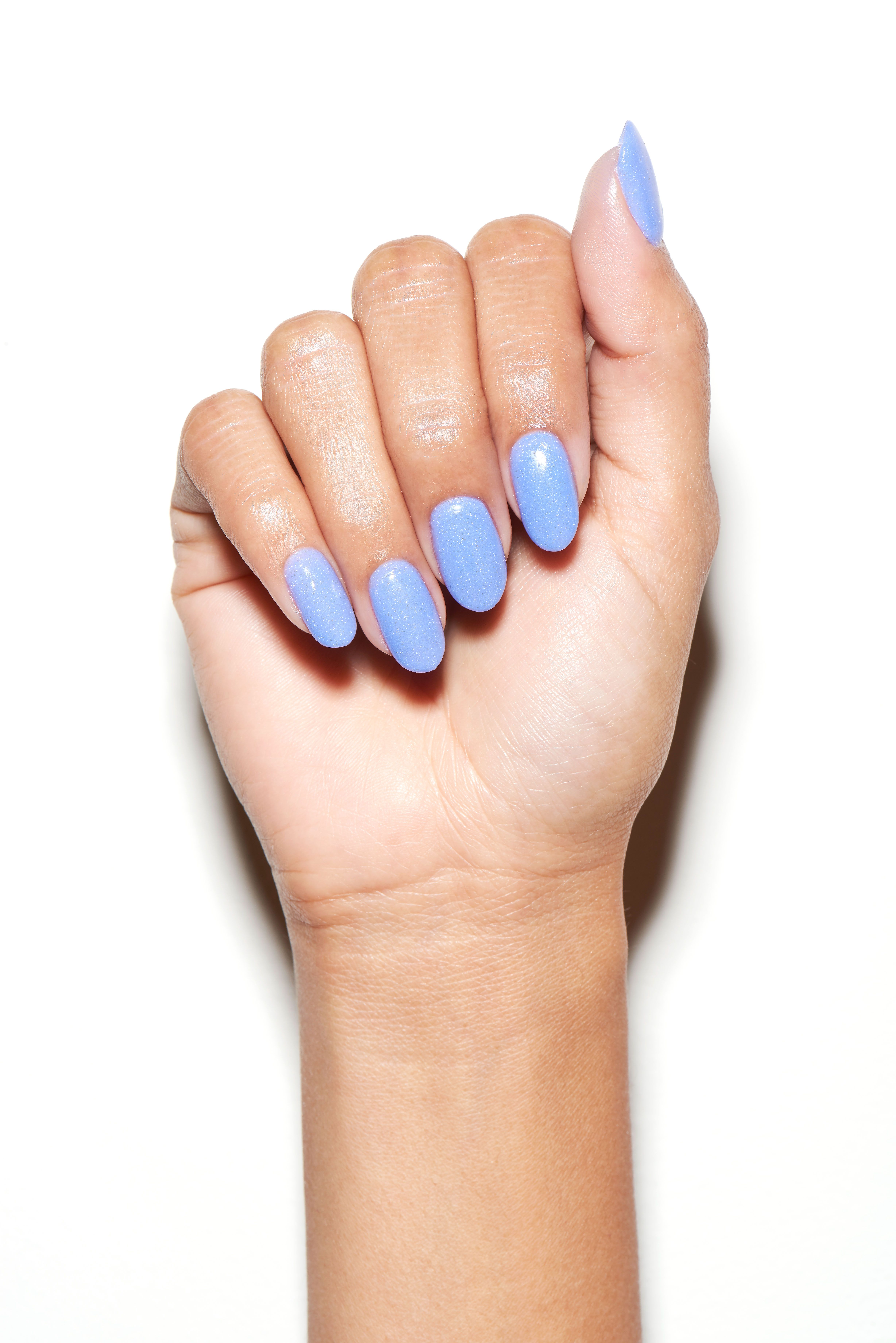 This gorgeous manicure was made using OPI\'s Powder Perfection ...