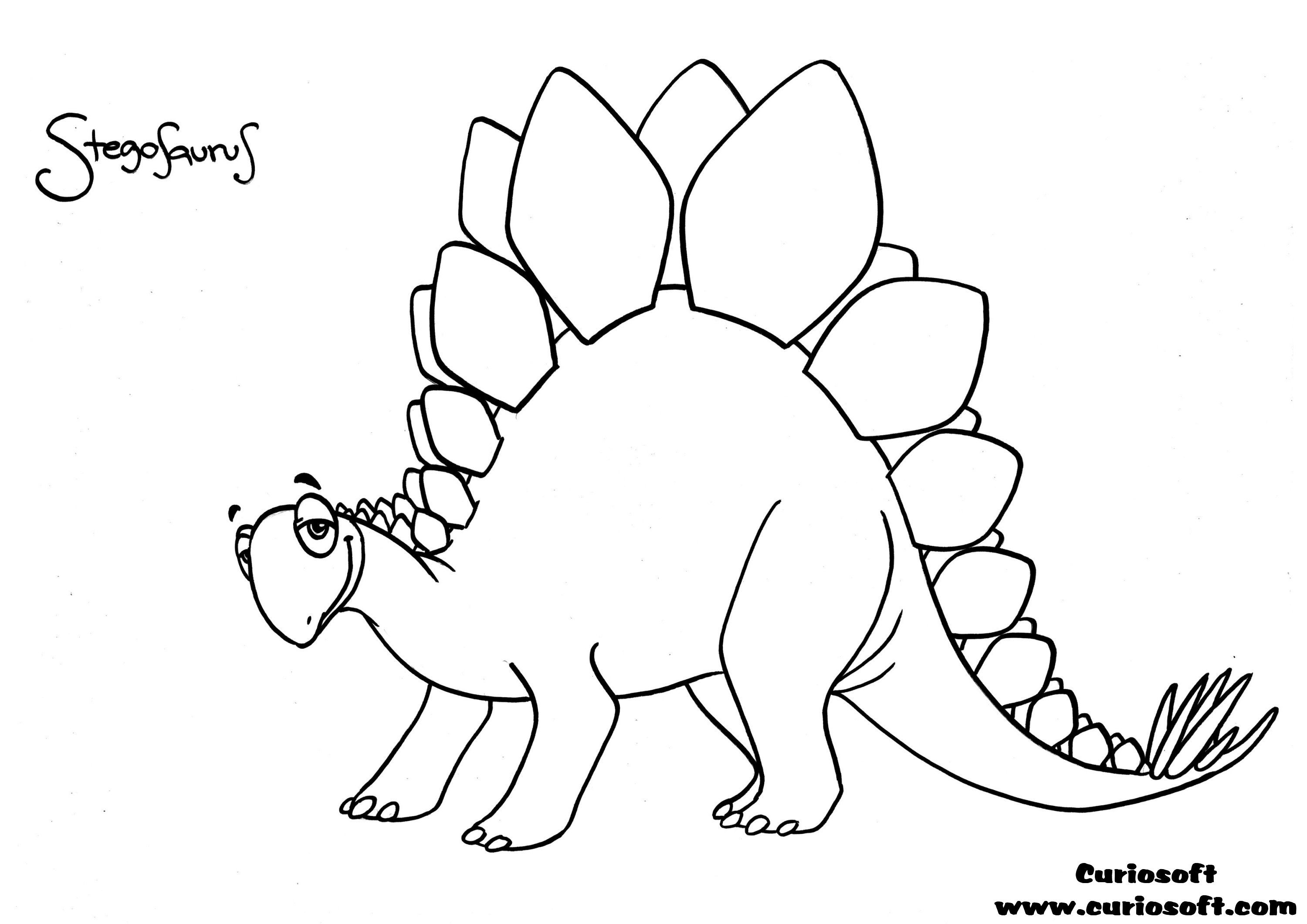 Good Stegosaurus Coloring Pages 78 With Additional Coloring For