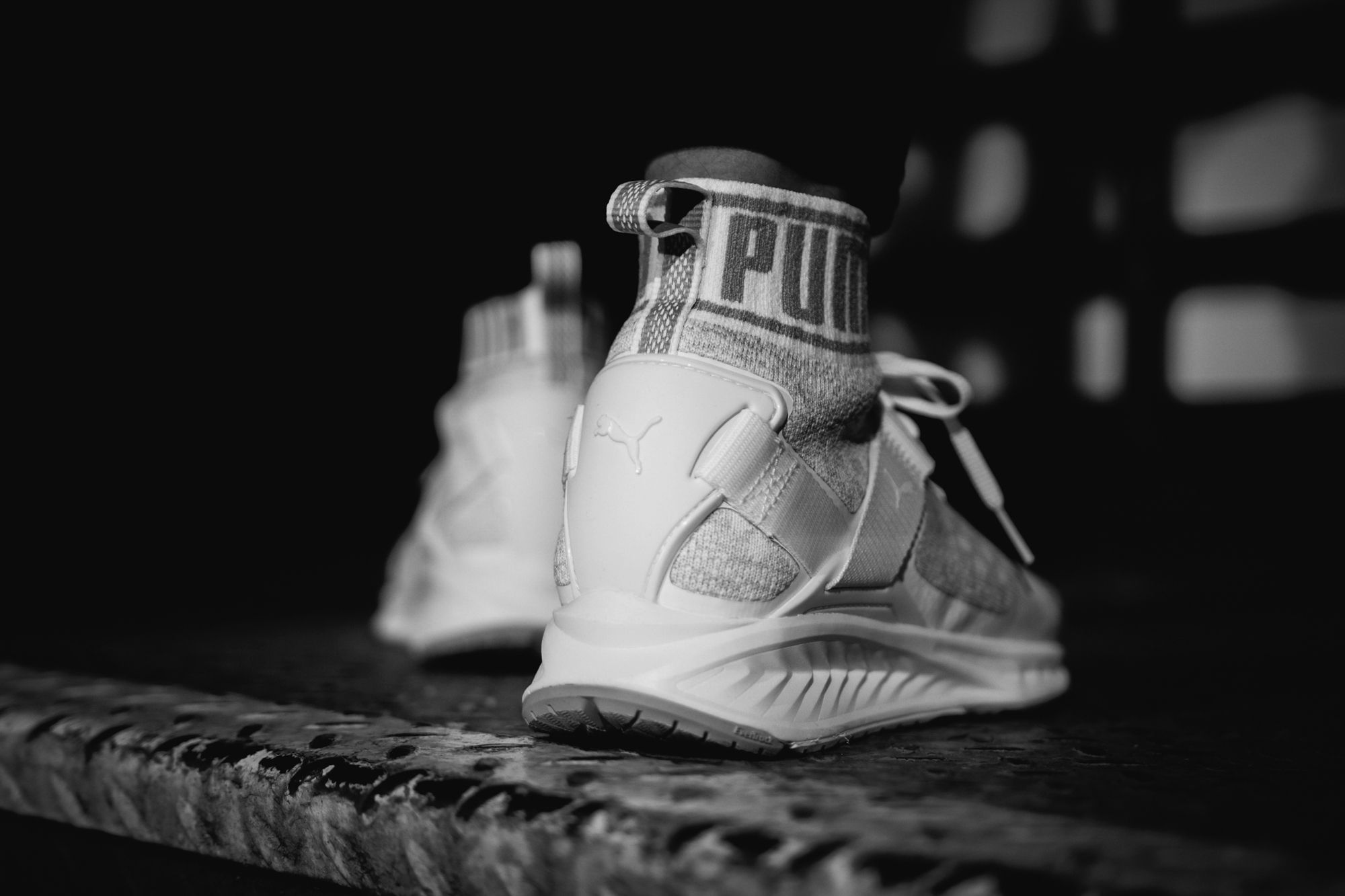 puma ignite evoknit all white