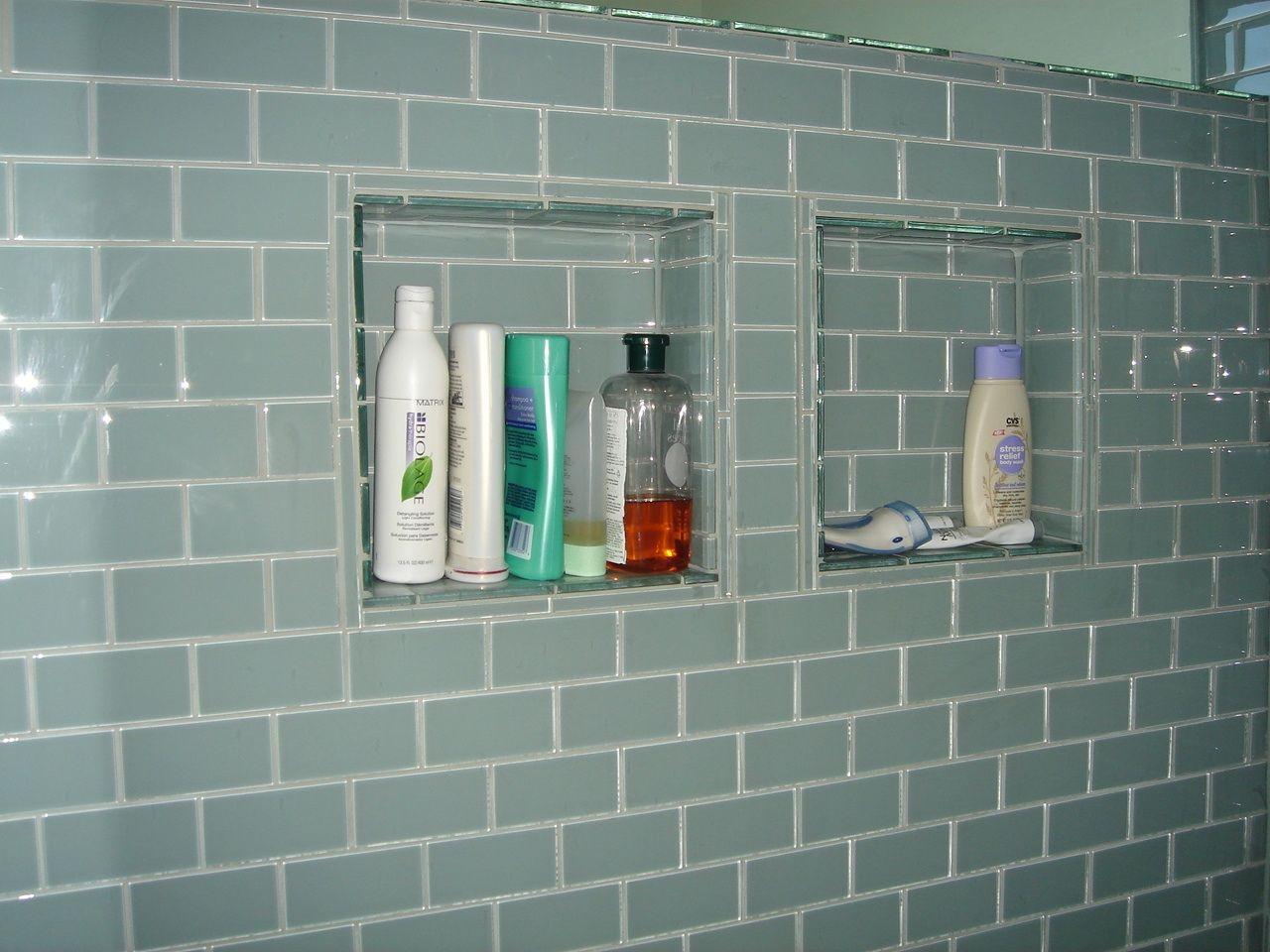 American Olean glass tile shower | Designs Etc bathroom remodels ...