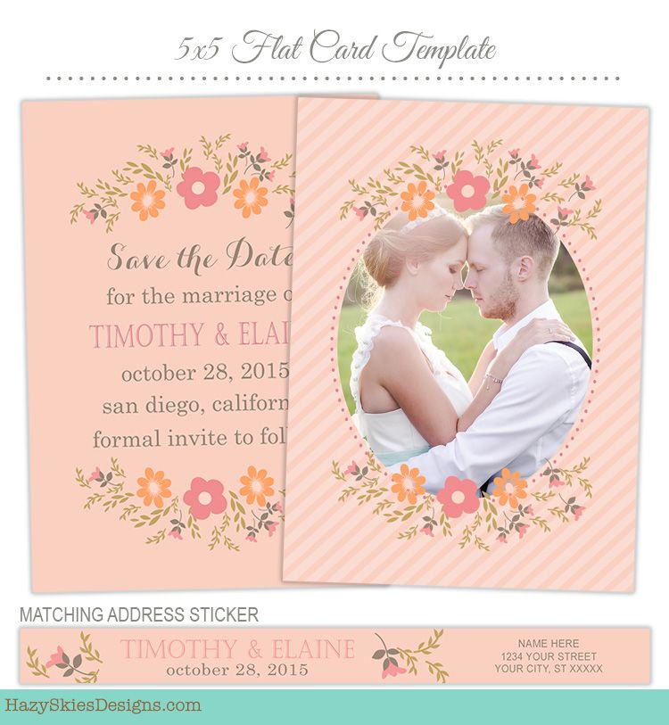 Save The Date Card Template For Photographers Save The Date