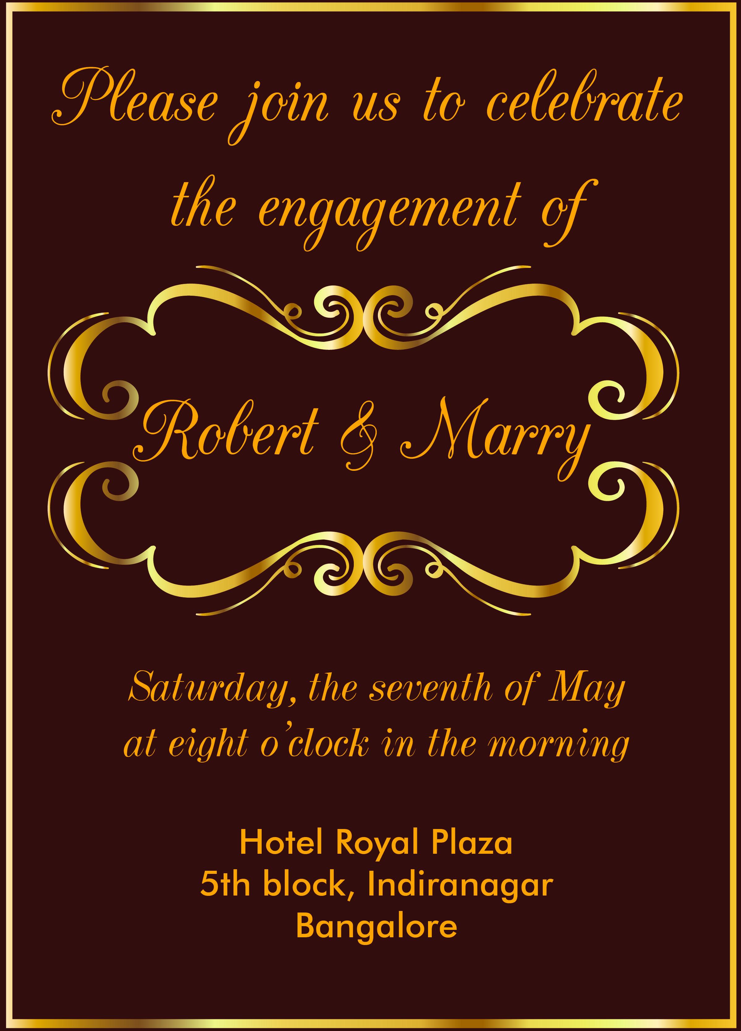 Marriage Wedding Invitation Cards