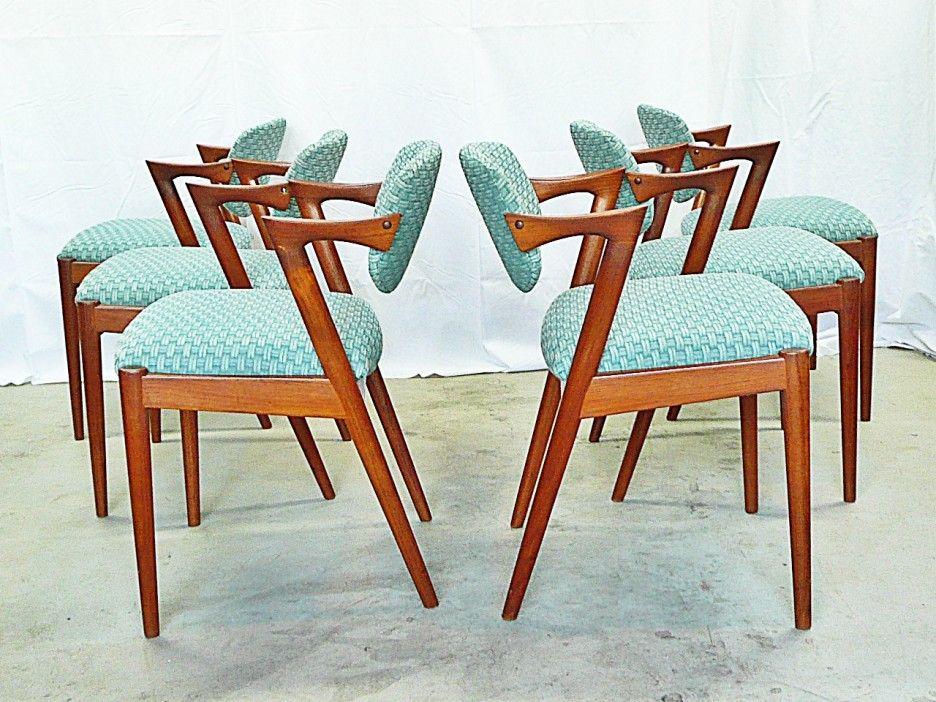 Mid Century Z Shaped Teak Dining Chairs  Mid Century Design Best Danish Modern Dining Room Decorating Inspiration