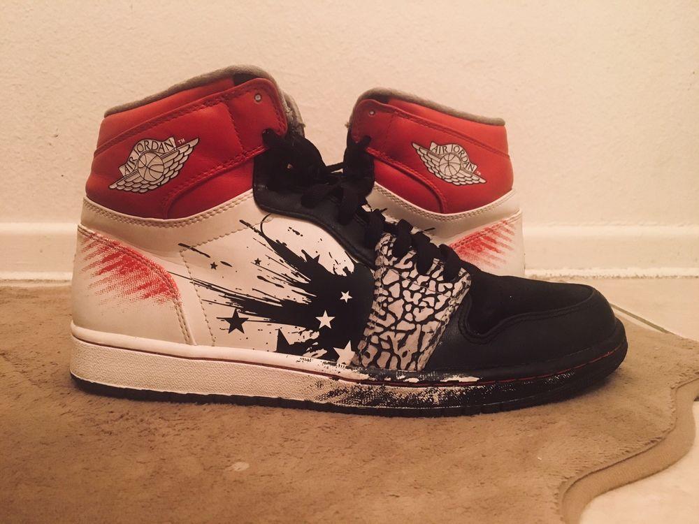 outlet store 329f6 6a94e ... france nib nike air jordan 1 retro sz 10.5 bb shoes dave white black  sport red