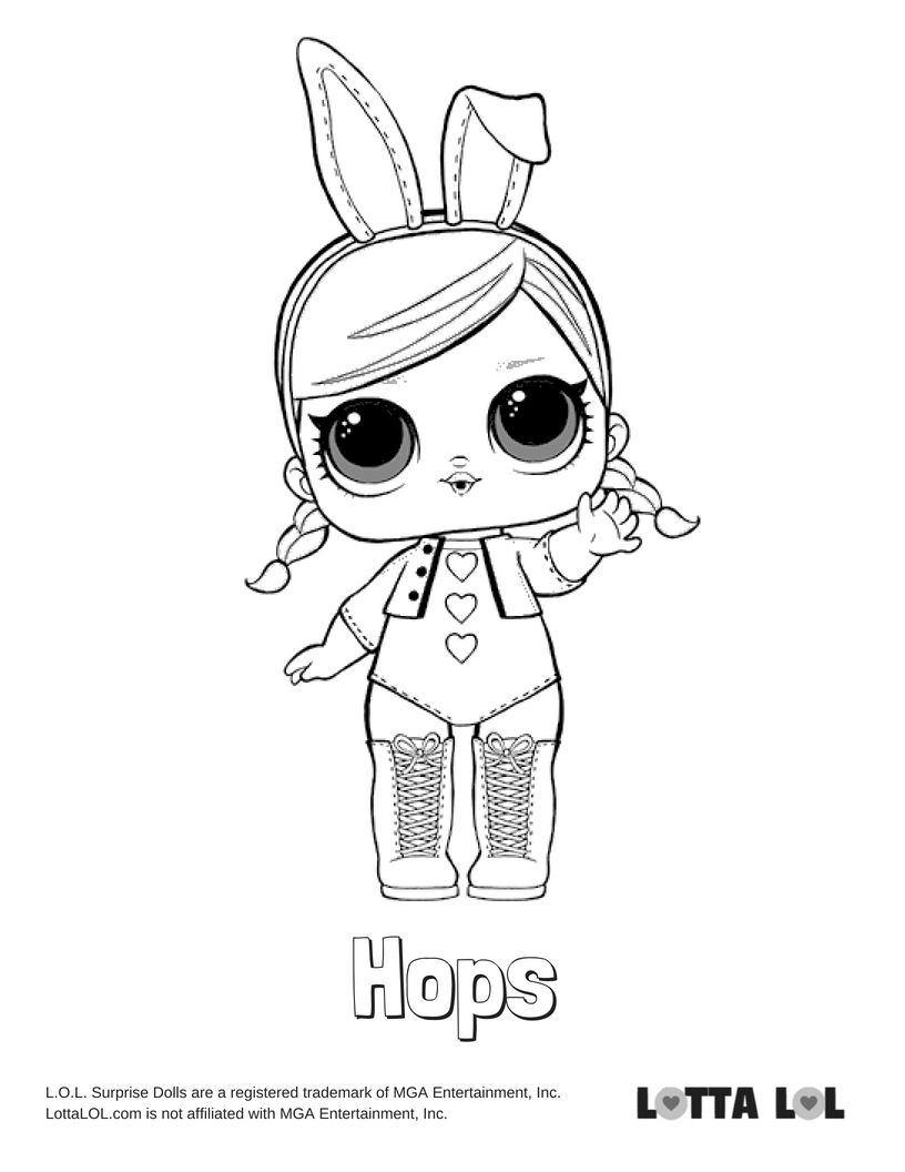 Hops Coloring Page Lotta Lol Unicorn Coloring Pages Coloring Pages Kids Printable Coloring Pages