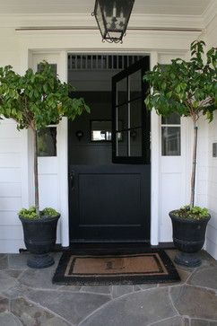 Charmant Single Panel Black Dutch Door W/ Oil Rubbed Bronze Hardware