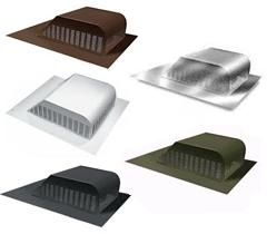 Slant Louver Roofing Vents Brown Mill Finish White Weather Wood Black