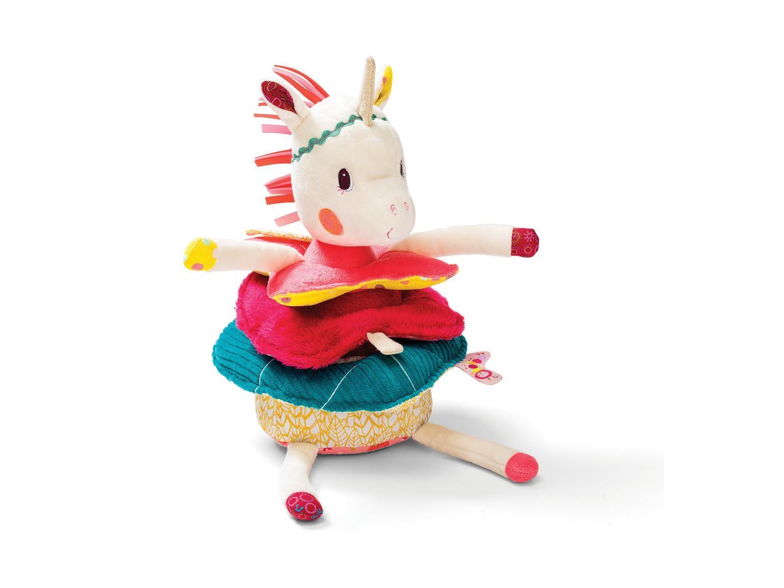 fda81a8f209e2 Lilliputiens - Jouet de construction pyramide Louise la licorne  licorne   jouet  enfants