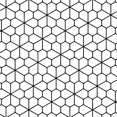 Tessellation with Floret Pentagonal Tiling Coloring page ...