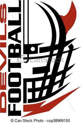vector devils football stock illustration royalty free rh pinterest co uk nfl football team clipart nfl football team helmets clipart