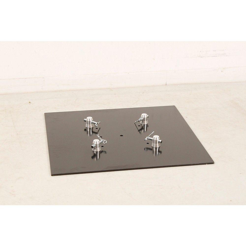 GLOBAL TRUSS BASEPLATE2.2S 2 x 2 Ft. Square/Triangular Truss Base Plate Steel Regular 888366053492