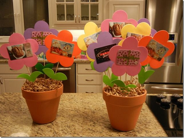 Gift Card Flower Pots Teacher Gift Card Gift Card Bouquet