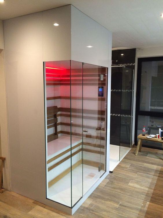 infrarood sauna badkamer | Badkamers | Pinterest - Luxe badkamers ...