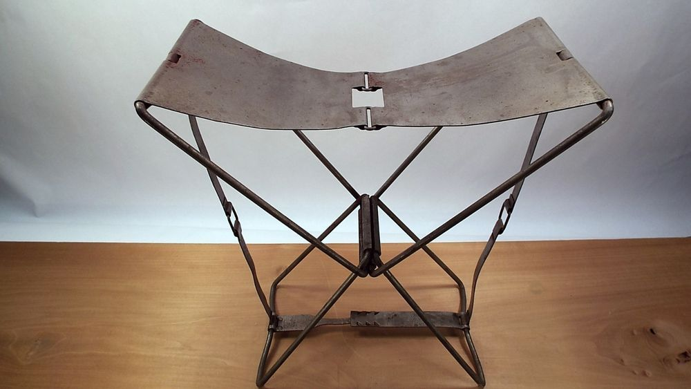 Super Antique Metal Collapsible Camping Stoolcodaco Products Pabps2019 Chair Design Images Pabps2019Com