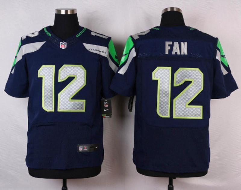 Men 12 Fan Jersey Seattle Seahawks Blue Jersey Fanatics Version Size S M L Xl 2xl 3xl 4xl Player 12 Fan Team Seattle Seahawks Seahawks Jersey Nfl Seattle