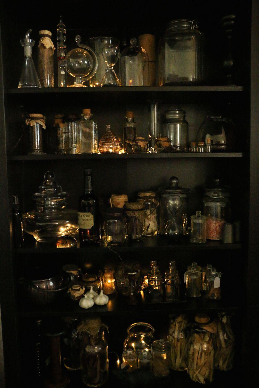 Image result for potion shelf Harry potter aesthetic