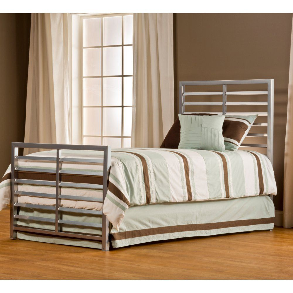 Latimore Slat Bed Size Twin, Finish Mirror