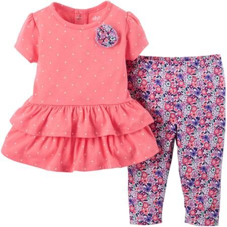 Walmart Baby Girl Clothes Child Of Mine Madecarter's Newborn Baby Girl Top And Pant Outfit