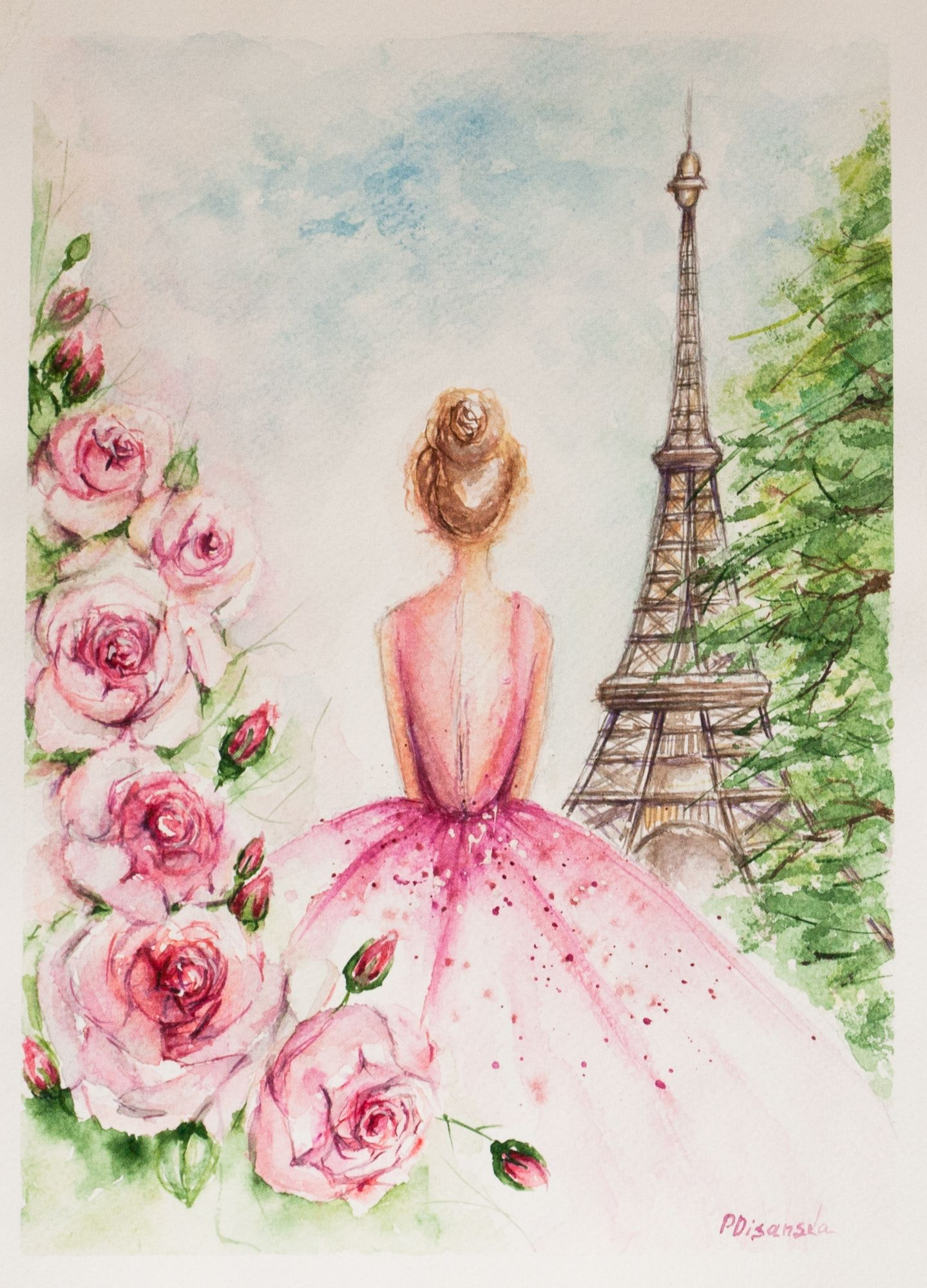 Eiffel Tower Paris Princess Bride Wedding Gift Bridesmaids