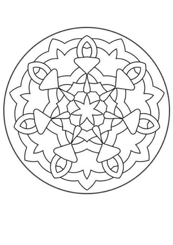 196 Dibujos de Mandalas para Colorear fáciles y difíciles | Mandalas ...