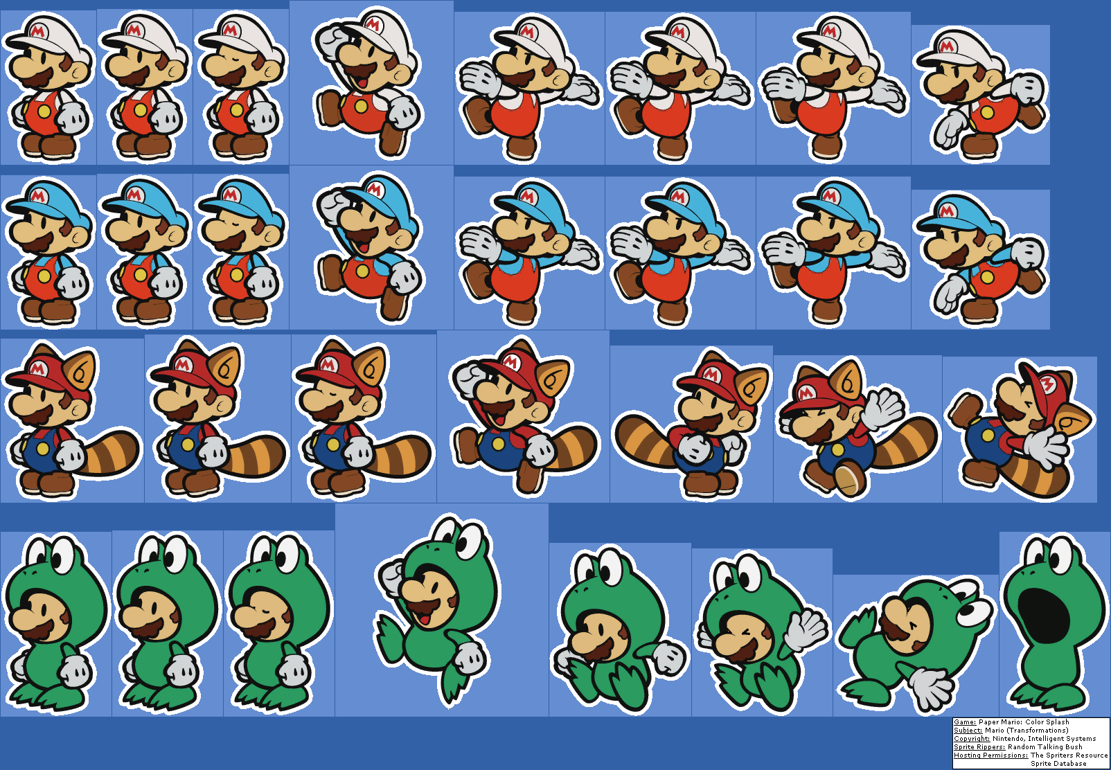 Mario Transformations Paper Mario Color Splash Mario