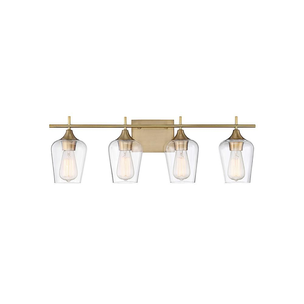 Filament Design 4-Light Warm Brass Bath Light-CLI-SH266959 - The Home Depot $150