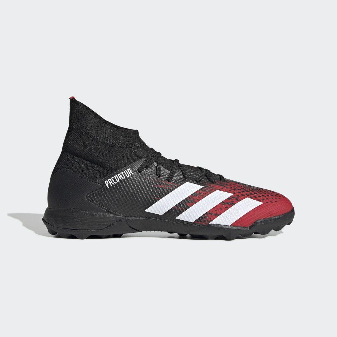 Predator 20 3 Turf Shoes Black Mens In 2020 Astro Turf Trainers Turf Shoes Black Shoes