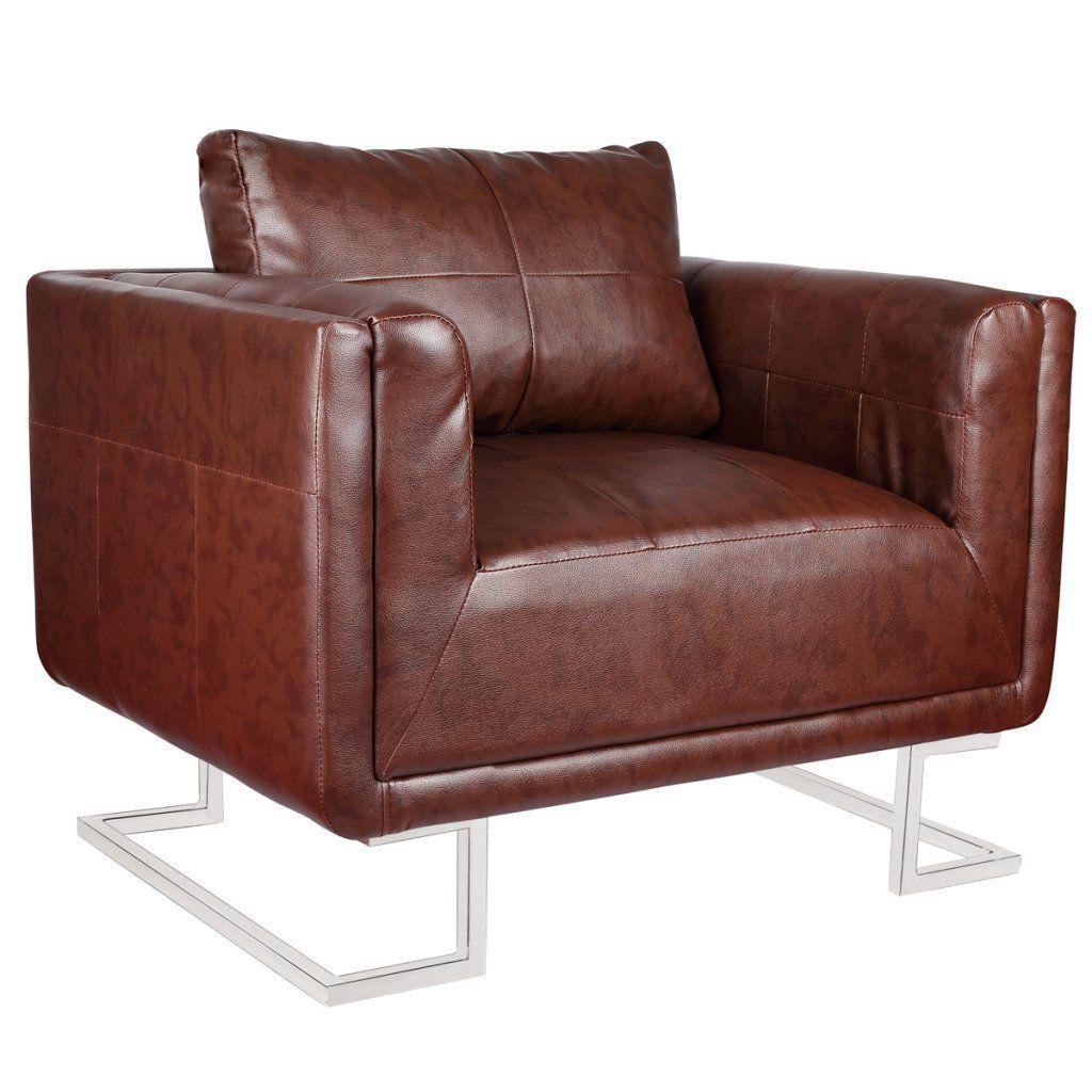 VidaXL Luxus Ledermixstuhl Sofa Lounge Wohnzimmer Sessel Relaxsessel Couch Ledermixsessel Amazonde Kche