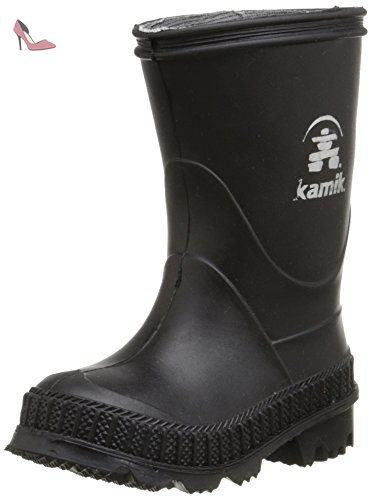 Enfant 2017 Stomp Bottes Kamik Noir Boots EHD29I