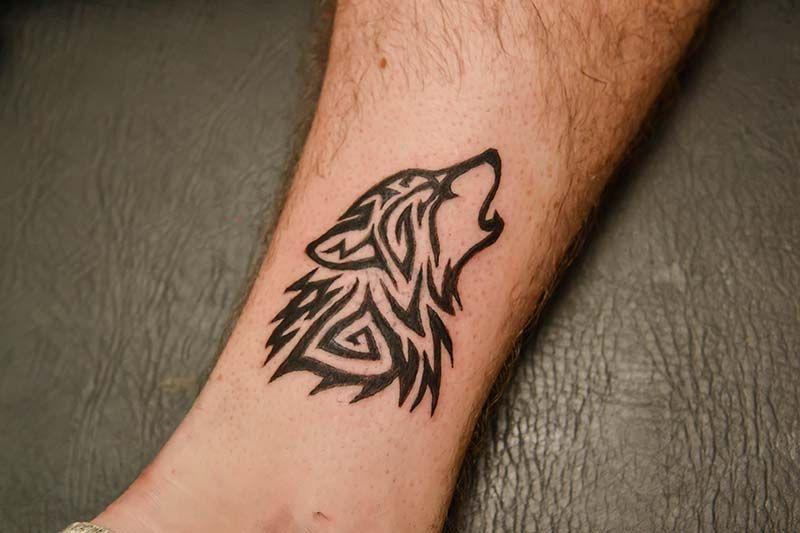 Tribal Wolf Tattoo Tattoo Ideas Tribal Tattoos Tribal border=