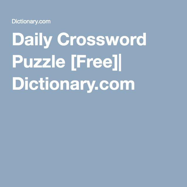Daily Crossword | Crosswords, in Games & Puzzles | Pinterest ...