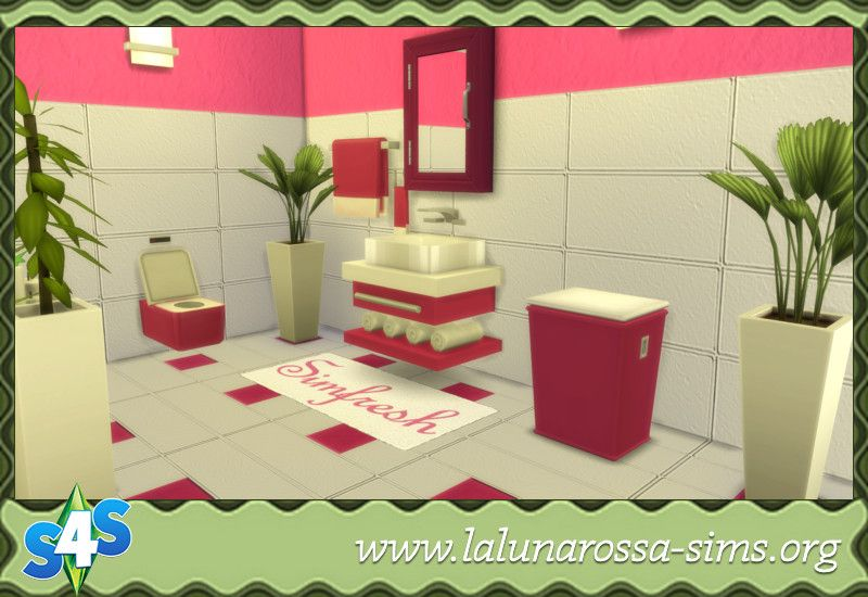 Colorful Bathroom - LaLunaRossa and The Sims The Sims 4