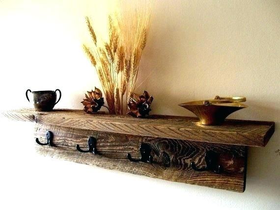 Key Holder Shelf Rustic Rack Ideas Wall Hung Coat Hat Book Of Woodworking