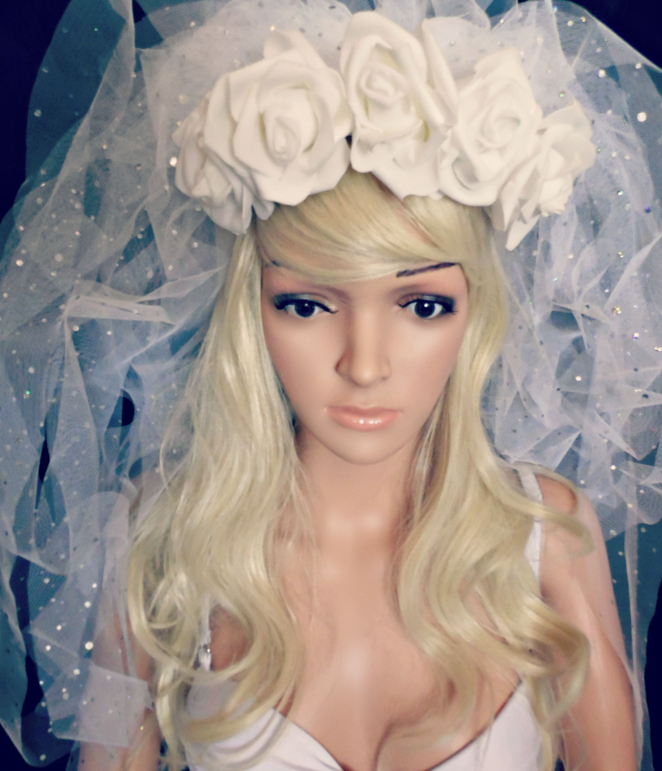 Flower Crown Veil Bride To Be Bachelorette Bridal Shower