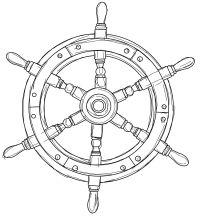 Free Ships Wheel Nautical Digital Stamp Set Digital Stamps Free