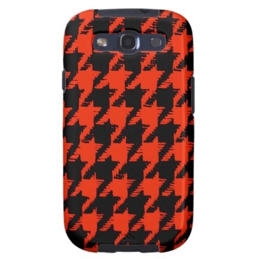 Halloween Houndstooth Pattern Galaxy S3 Covers