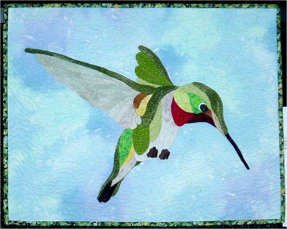 Free Hummingbird Quilt Patterns | Hummingbird , 16 x 20, by ... : hummingbird quilts - Adamdwight.com