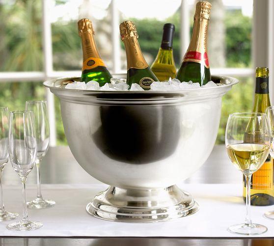 Hotel Silver Plated Oversized Bucket Wine Bucket Champagne Buckets Bucket